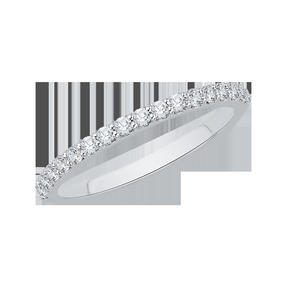 18K White Gold 1/3 Ct Diamond Carizza  Wedding Band