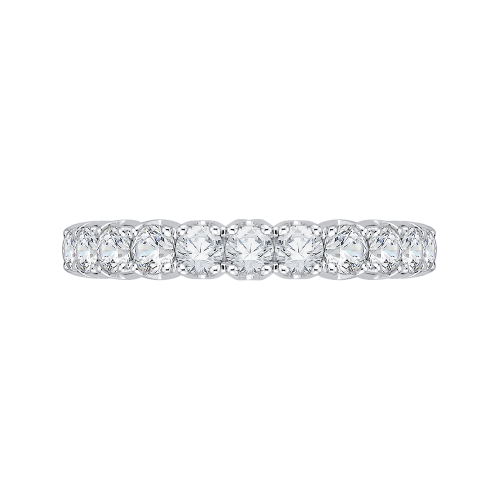 18K White Gold 3/4 Ct Diamond Carizza  Wedding Band