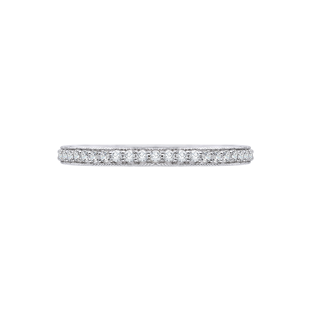 18K White Gold .12 Ct Diamond Carizza Wedding Band