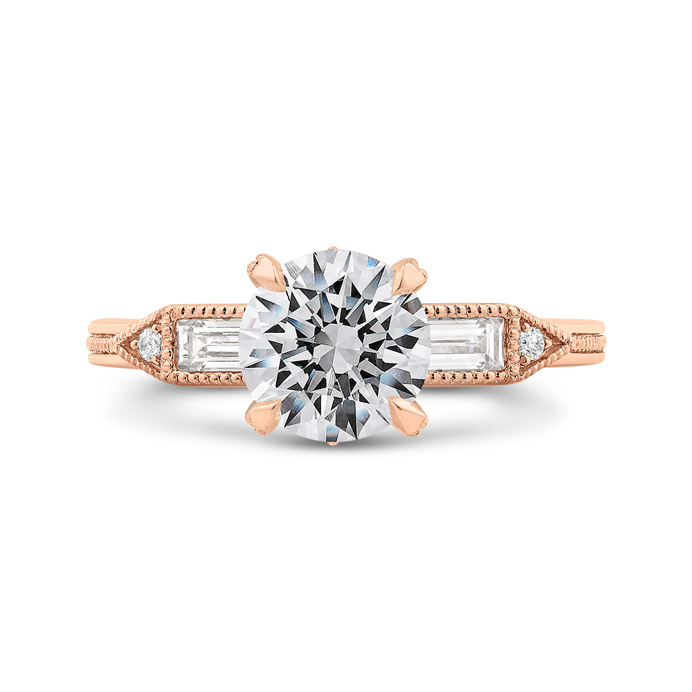 ring engagement diamonds five carat baguette diamond products rings