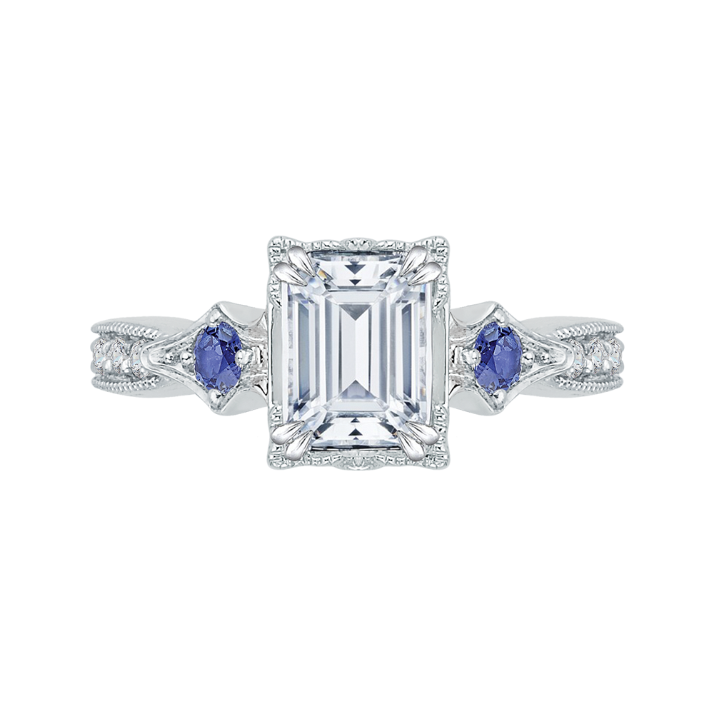 ring blue gold white chic eternity rutpiyk sapphire diamond in halo and rings