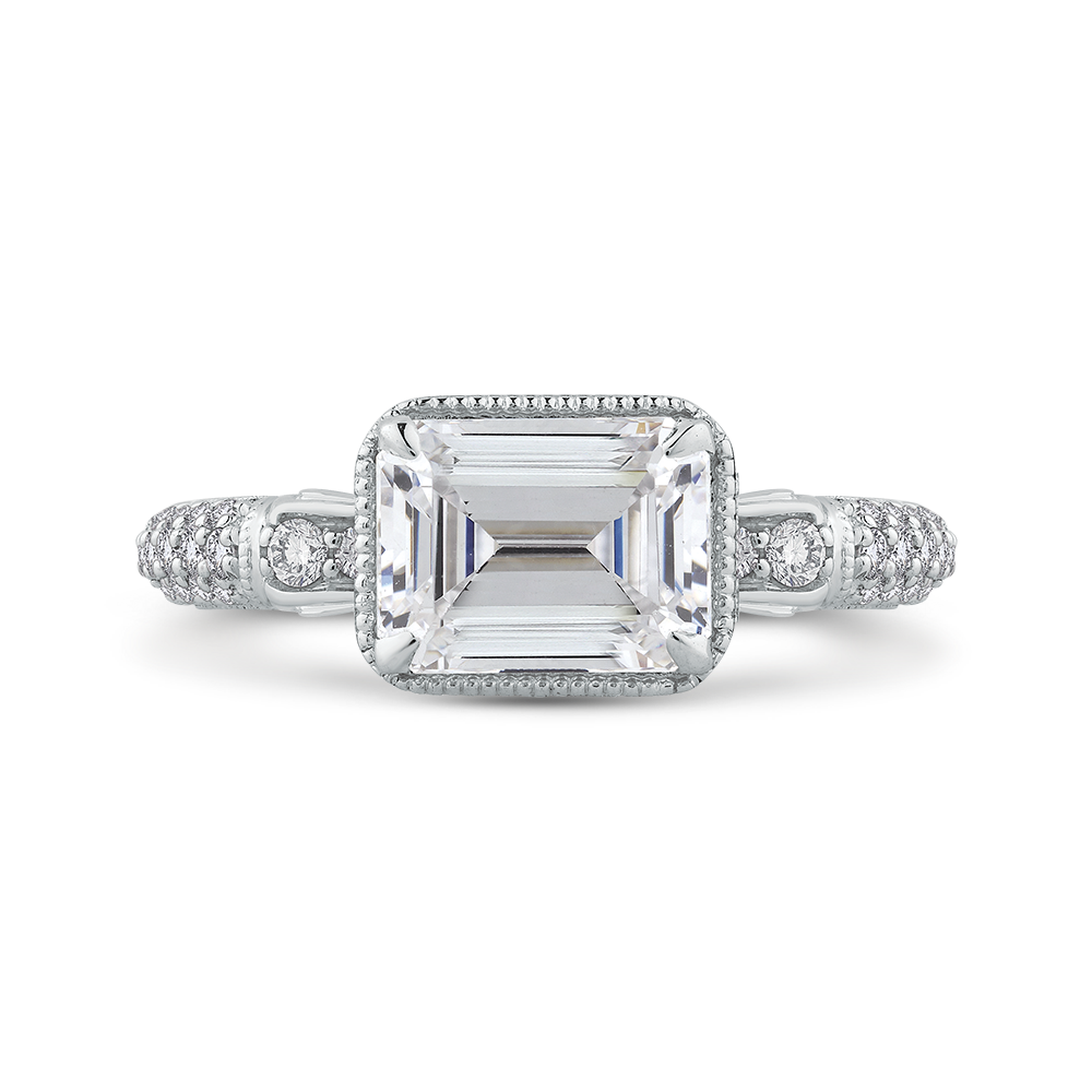 shoulder image berrys set rings shoulders jewellery ring engagement platinum diamond emerald cut amp berry s