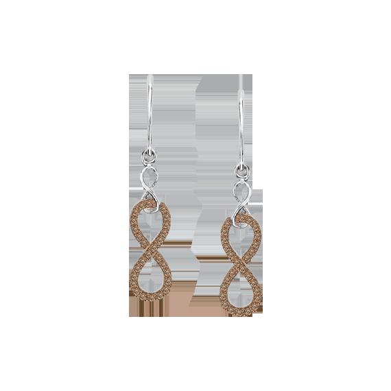 10K White Gold 1/5 ct Brown Diamond Fashion Earrings
