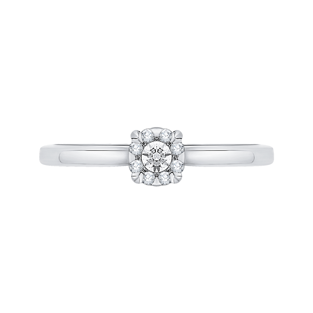 14K White Gold .13 Ct Diamond Lecirque Fashion Ring
