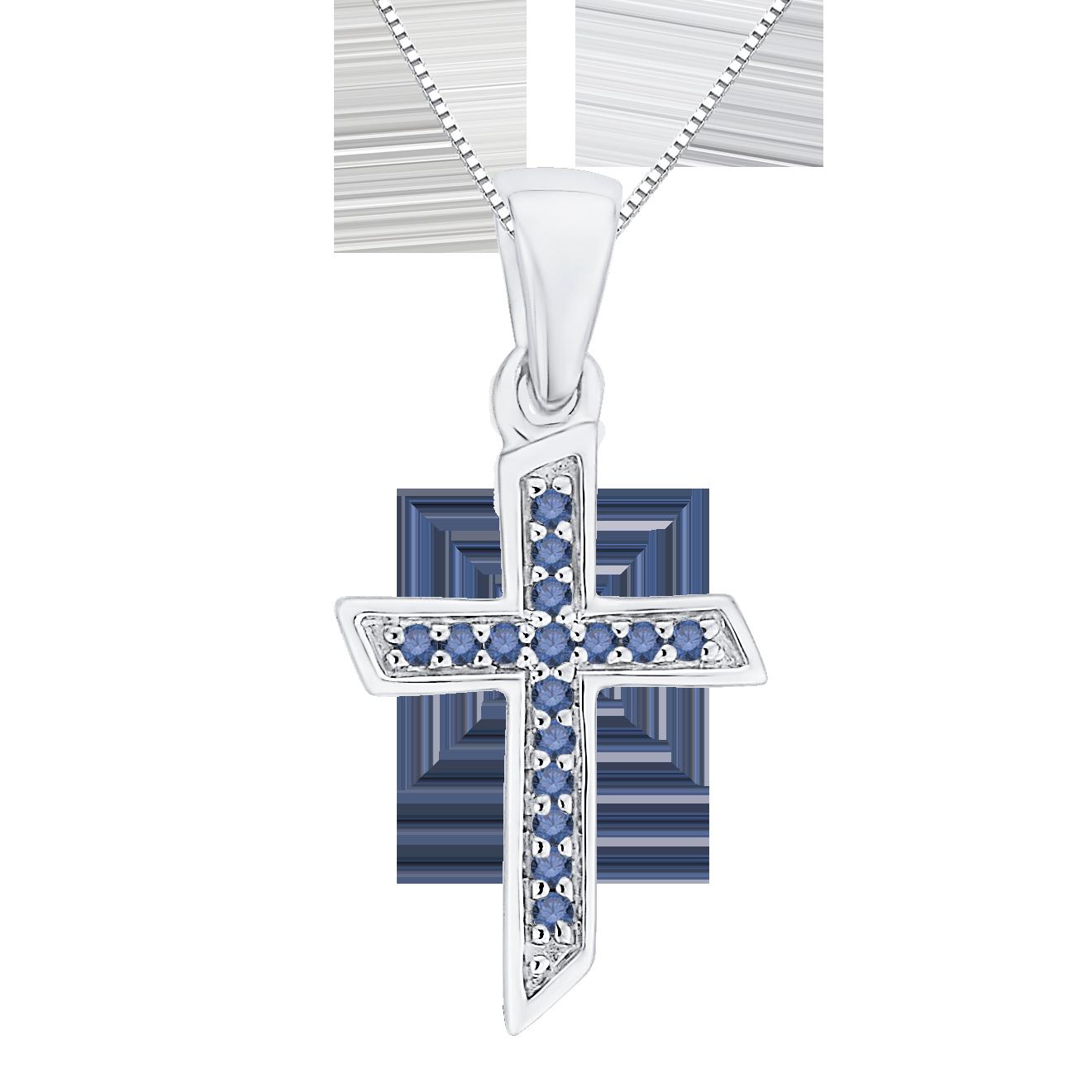 10k white gold 05 ct diamond cross pendant shah luxury blue diamond cross pendant mozeypictures Choice Image