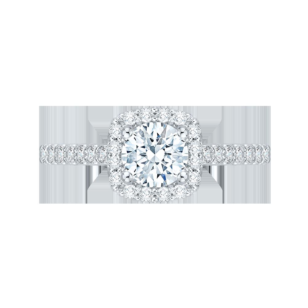14K White Gold 1.45 ct. Diamond Promezza Engagement Set with Round Center