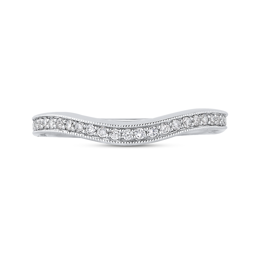 14K White Gold 1/5 Ct Diamond Promezza Wedding Band