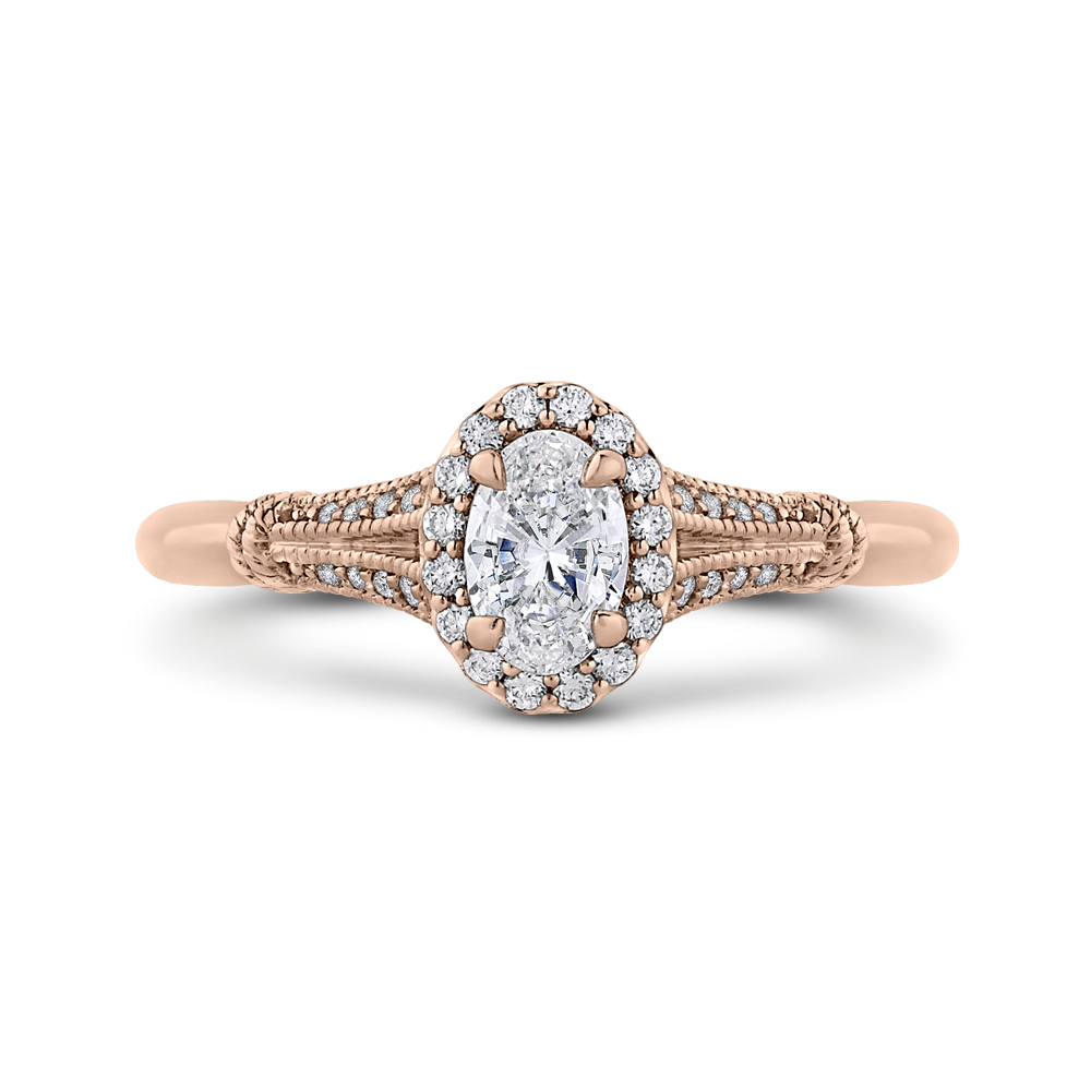 engagement cathedral diamond semi three ring stone mount rings cut style oval white gold