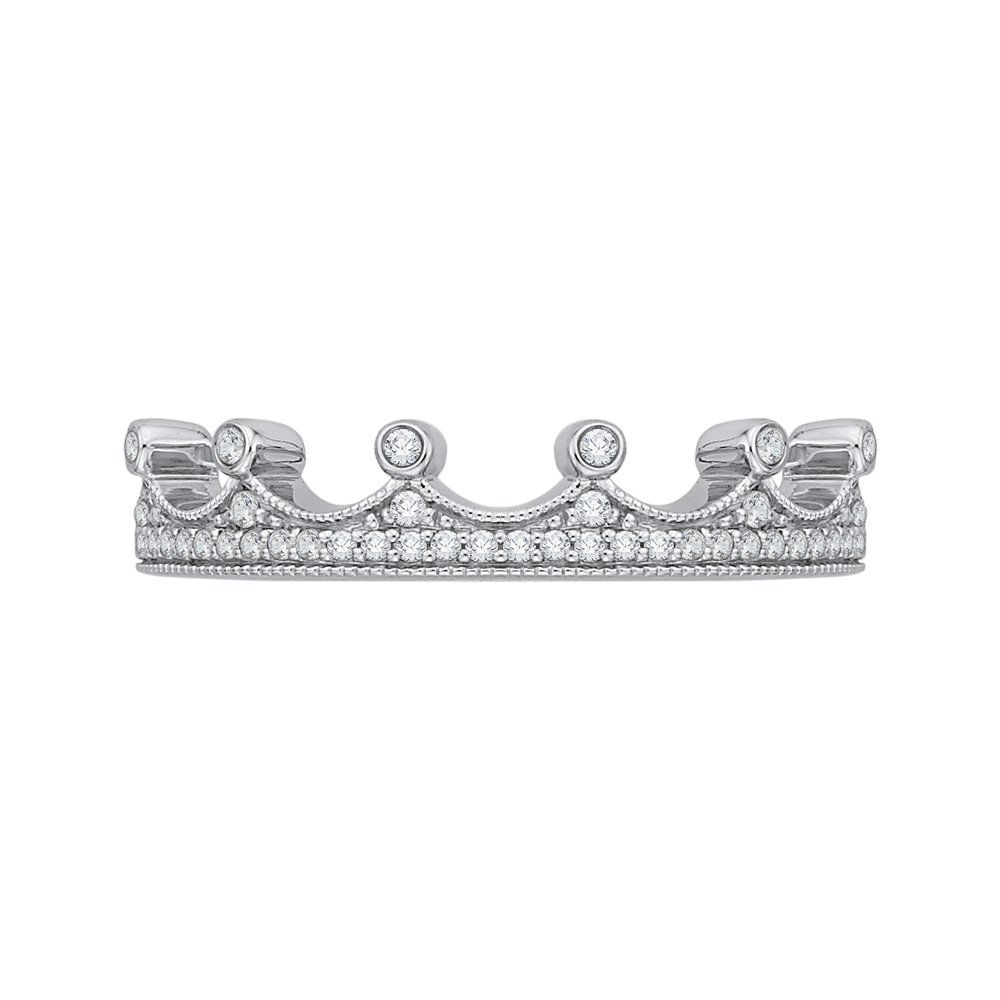 14K White Gold 1/5 Ct. Diamond Promezza Wedding Band
