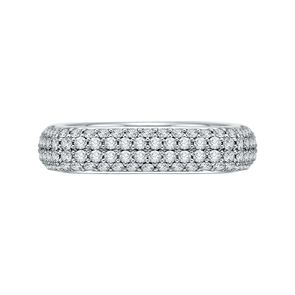 18K White Gold Round Diamond Fashion Band