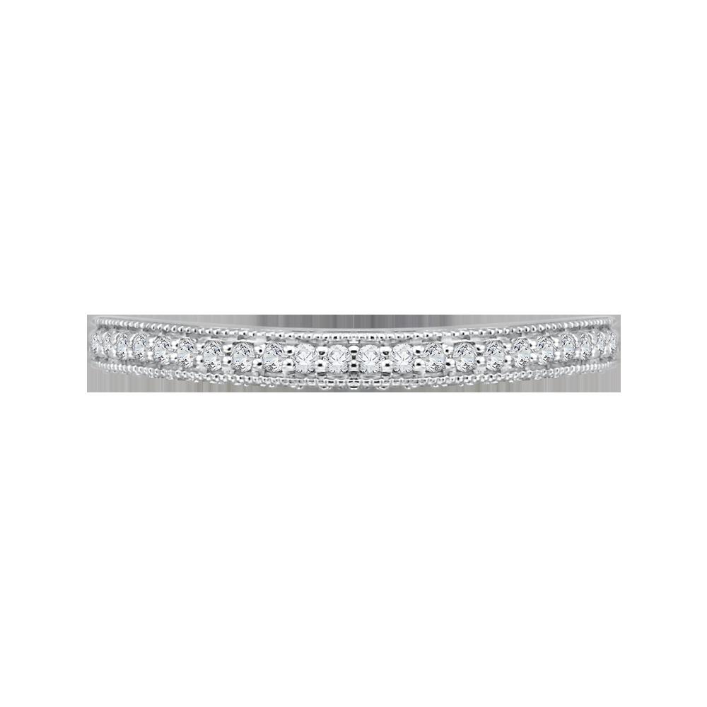 18K White Gold 1/3 Ct Diamond Carizza Boutique Wedding Band
