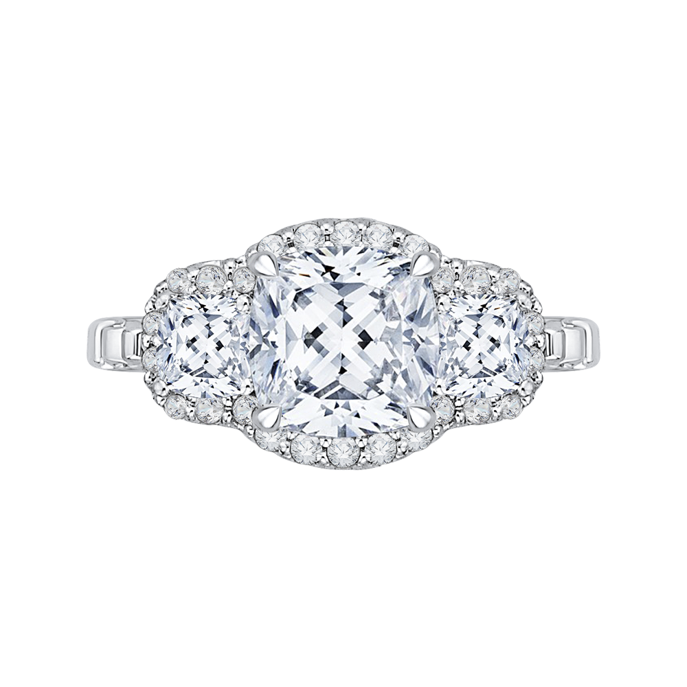 solitaire cut de beers cushion aura engagement rings platinum ring