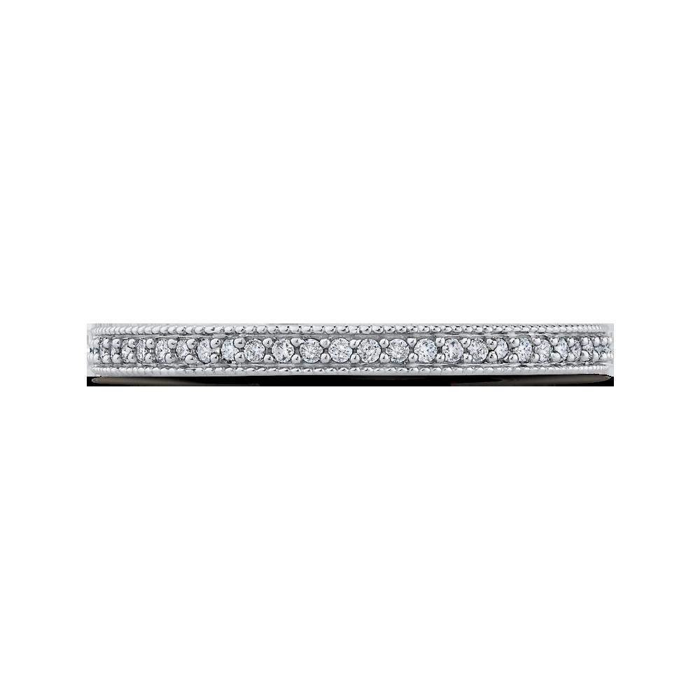 10K White Gold 1/3 ct Round White Diamond Eternity Wedding Band Ring