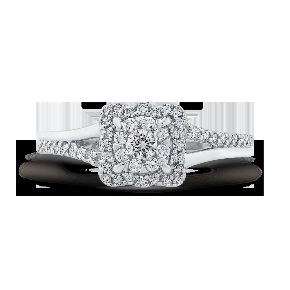 1/3 ct Round Diamond 10K White Gold Fashion Ring