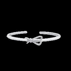 14K White Gold .14 ct Diamond Bangle Bracelet