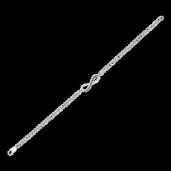 Infinity Brown Diamond Tennis Bracelet in 10K White Gold (.6 cttw)