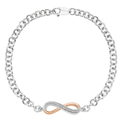 10K Two Tone Gold .07 ct Diamond Bracelet
