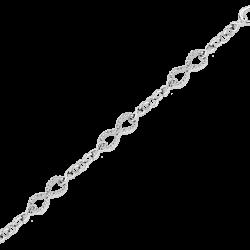 Diamond Infinity Link Bracelet in 10K White Gold (1/4 cttw)