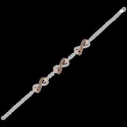 10K Two Tone Gold 1/4 ct Brown Diamond Bracelet