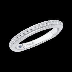 18K White Gold Diamond Half-Eternity Wedding Band