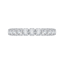 18K White Gold 3/4 Ct Diamond Carizza  Wedding Band