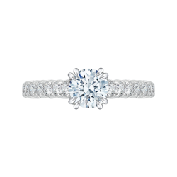 18K White Gold 3/4 Ct Diamond Carizza...
