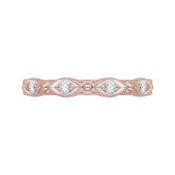 18K Pink Gold Diamond Wedding Band