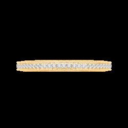 Round Diamond Half-Eternity Wedding Band In 14K Yellow Gold