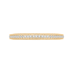 18K Yellow Gold Round Diamond Eternity Wedding Band