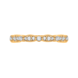 14K Yellow Gold Round Diamond Eternity Wedding Band