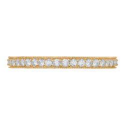 Round Diamond Eternity Wedding Band In 18K Yellow Gold