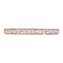 18K Rose Gold Round Diamond Eternity Wedding Band