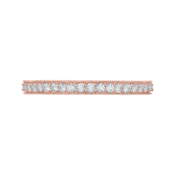 14K Rose Gold Round Diamond Eternity Wedding Band