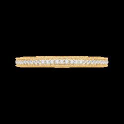 18K Yellow Gold 3/8 Ct Diamond Carizza  Wedding Band