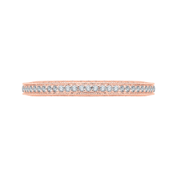 18K Pink Gold Diamond Eternity Wedding Band