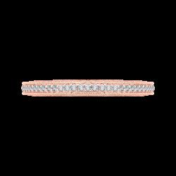 18K Pink Gold 3/8 Ct Diamond Carizza  Wedding Band