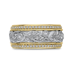 Round Diamond Eternity Wedding Band In 18K Two-Tone Gold
