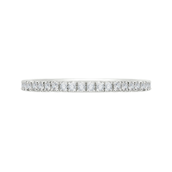 Round Diamond Half-Eternity Wedding Band In 14K Two-Tone Gold