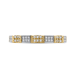 14K Two-Tone Gold Round Diamond Eternity Wedding Band