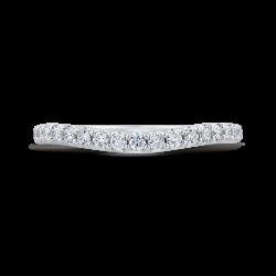 18K White Gold 3/8 Ct Diamond Carizza  Wedding Band