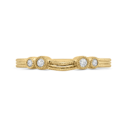 18K Yellow Gold Round Diamond Wedding Band