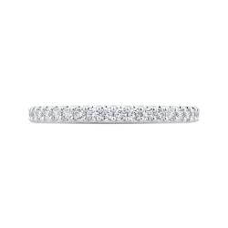 14K White Gold Half-Eternity Diamond Wedding Band