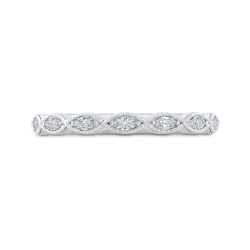 14K White Gold Marquise Diamond Wedding Band