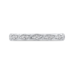 Half-Eternity Wedding Band In Round Diamond 18K White Gold