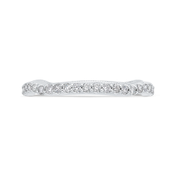 Round Cut Diamond 14K White Gold Half-Eternity Wedding Band