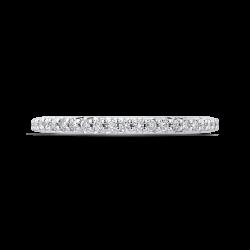 18K White Gold 1/4 Ct Diamond Carizza  Wedding Band
