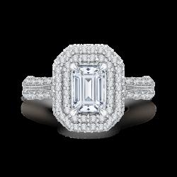 18K White Gold 1 5/8 Ct Diamond Cariz...