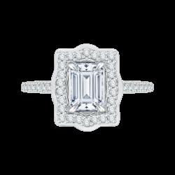 18K White Gold 1/4 Ct Diamond Carizza...