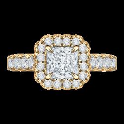 18K Yellow Gold 7/8 Ct Diamond Carizz...