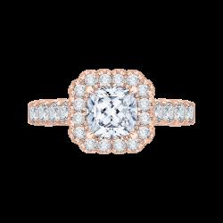 18K Pink Gold 7/8 Ct Diamond Carizza ...